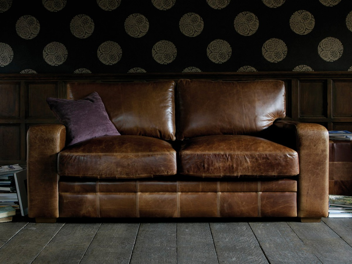 just chill be relax on luxury leather sofa