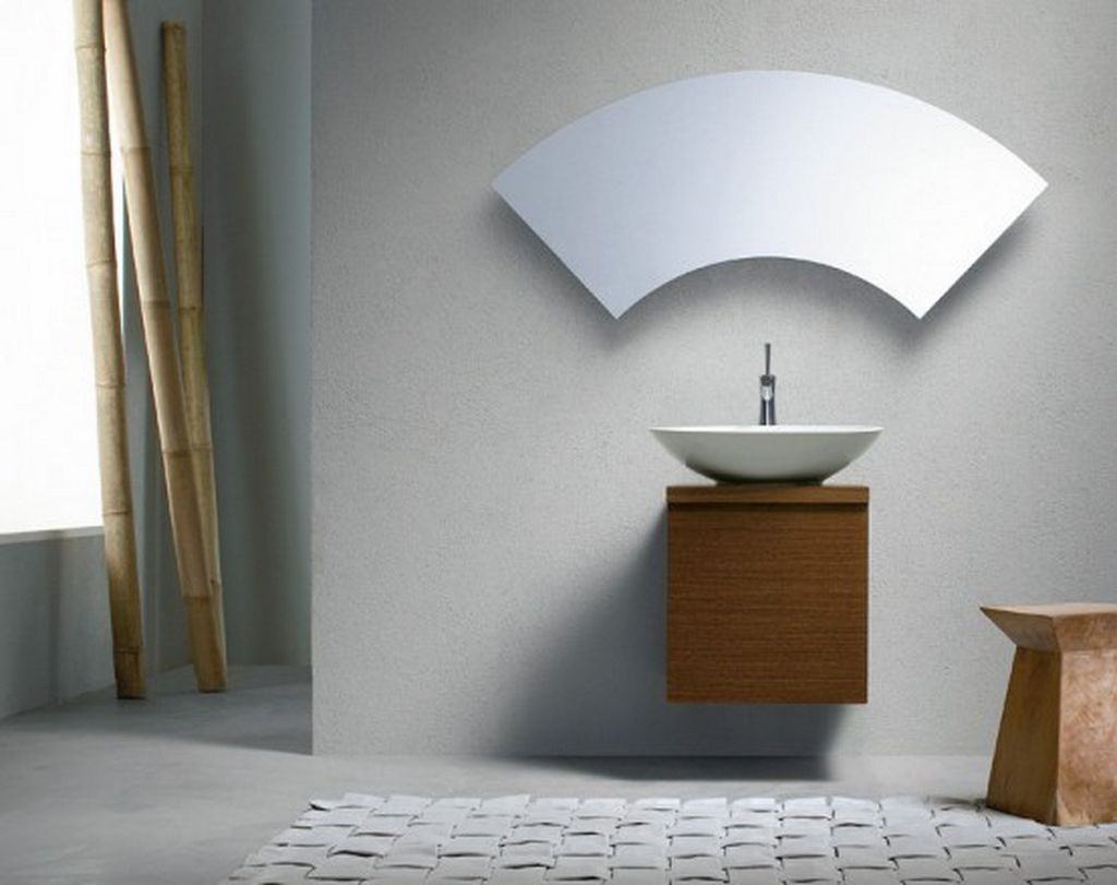 Fantastic Bathroom Mirror Beautiful Curved Shape
