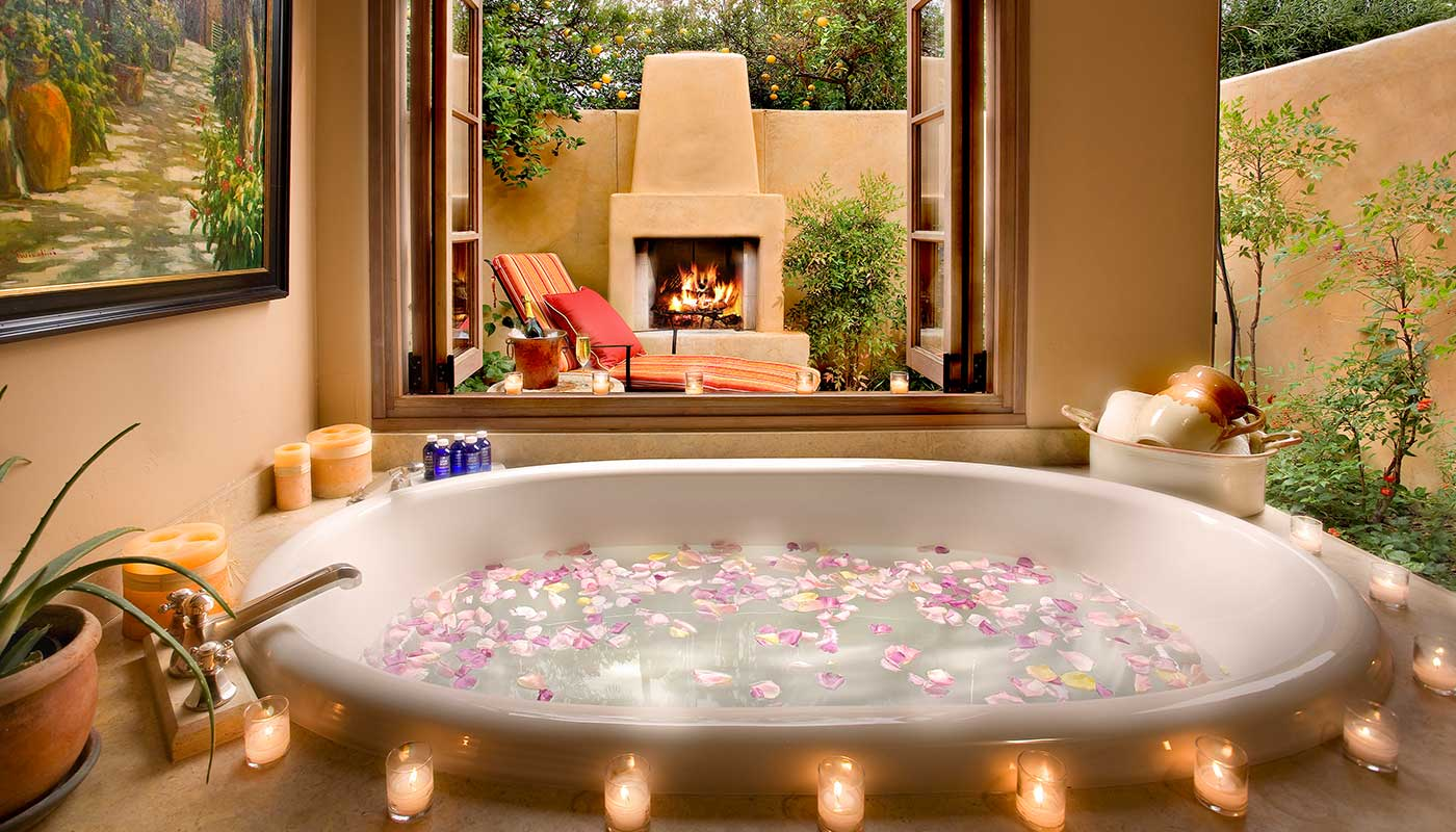 Decorate sides of bath tub