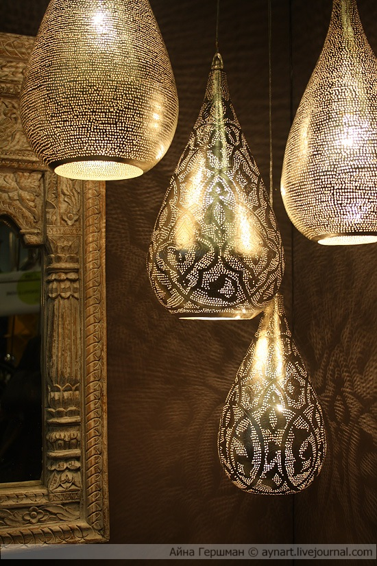 Cool metal light fixtures Moroccan style