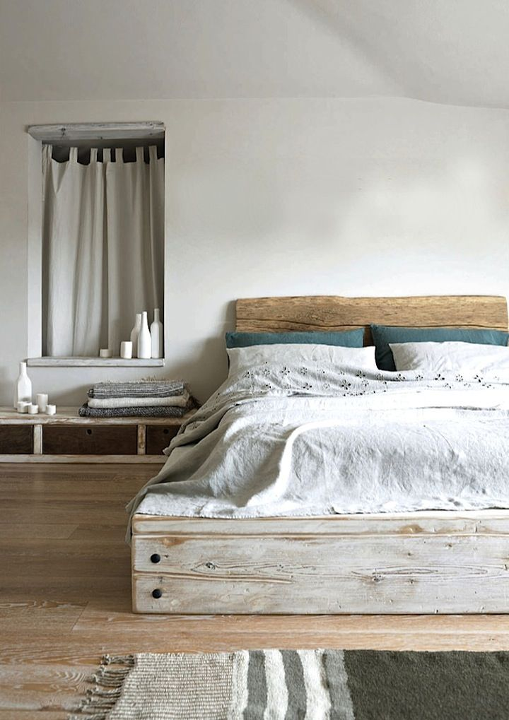 21 Beautiful Wooden Bed Interior Design Ideas on Pallet Bedroom Ideas  id=95881