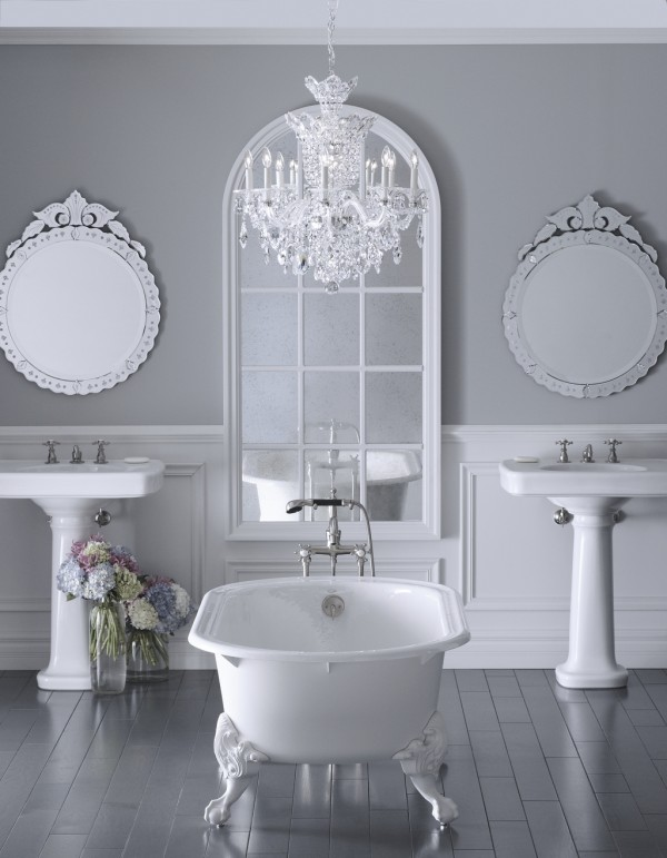 21 ideas to decorate lamps chandelier in bathroom - Small crystal chandelier for bathroom ...