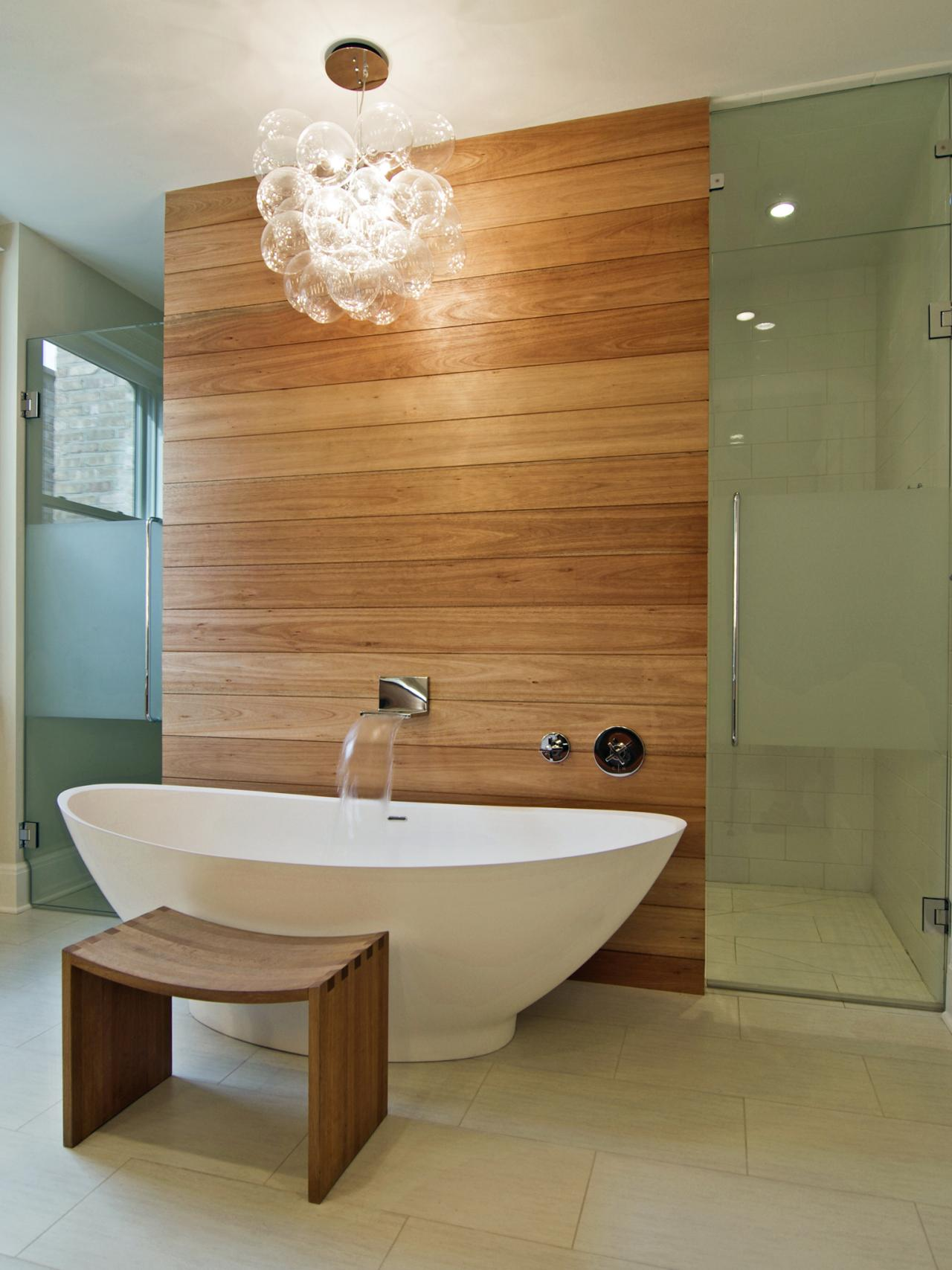 26 spa inspired bathroom decorating ideas for Contemporary bathrooms 2015