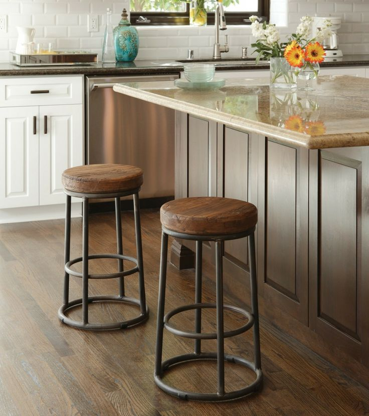 15 Ideas For Wooden Base Stools In Kitchen Amp Bar Decor