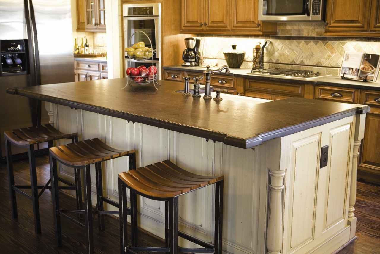 kitchen island countertop 15 ideas for wooden base stools in kitchen bar decor 7220