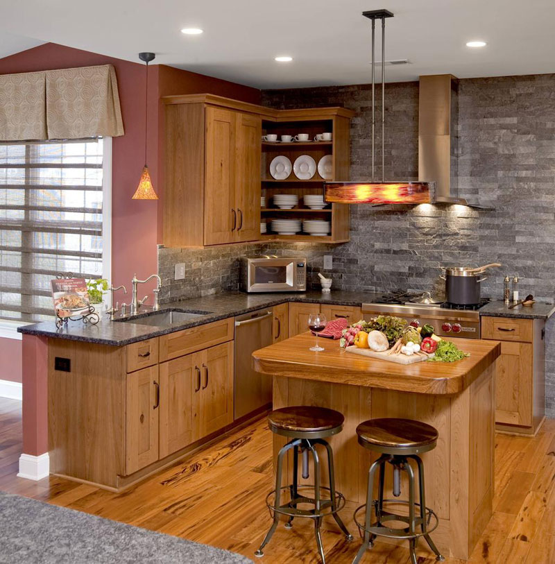 Small Kitchen Remodel Ideas For 2016: 33 Modern Style Cozy Wooden Kitchen Design Ideas