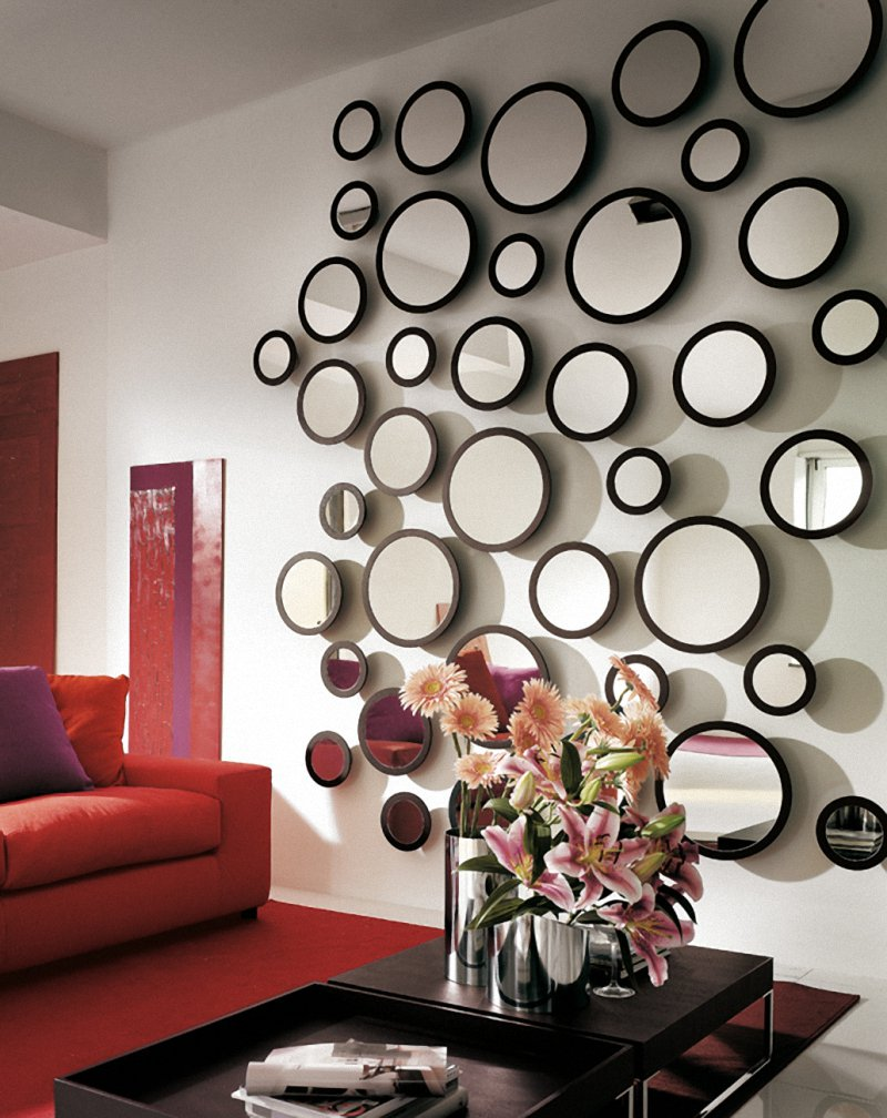 21 ideas for home decorating with mirrors - Wall decor mirror home accents ...
