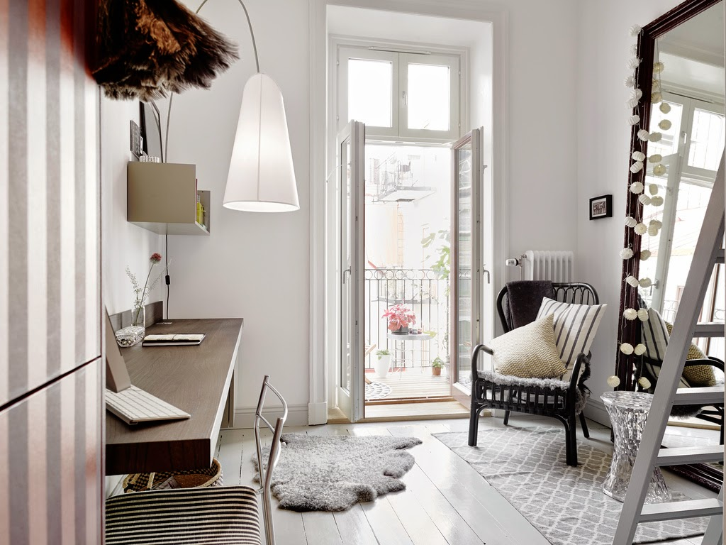 Scandinavian Small Space swedish apartment design