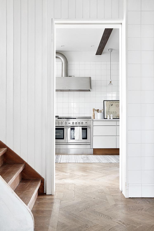stainless steel kitchen cabinets white interior