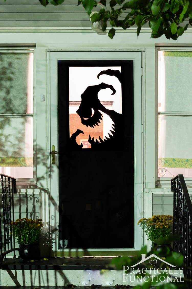 halloween door decorations - Homes Decorated For Halloween