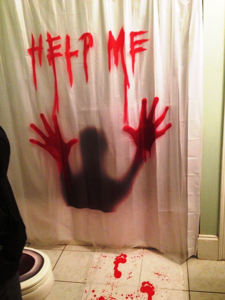 help me halloween decorations bathroom ideas - Halloween Decorations 2016