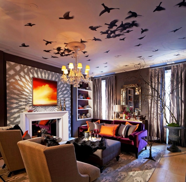 Living Room Bat Halloween Ideas Part 8