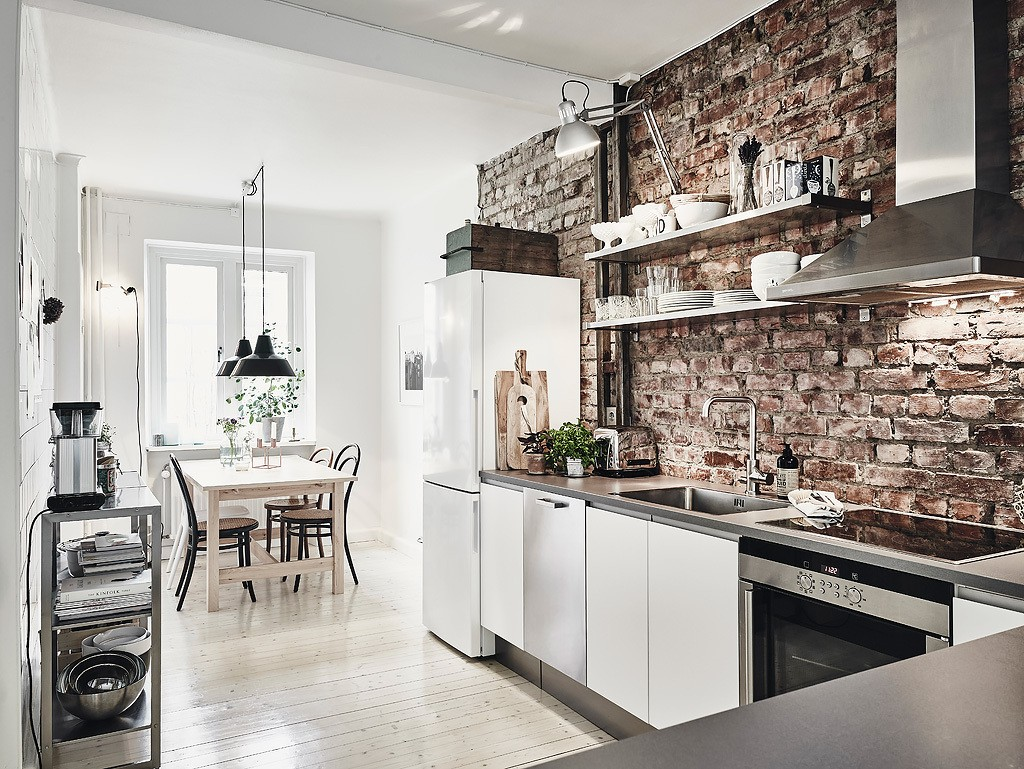 Scandinavian Interior Apartment With Mix Of Gray Tones