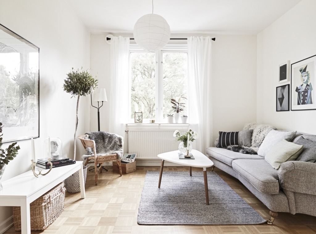 creative scandinavian home interior combined with plants decor