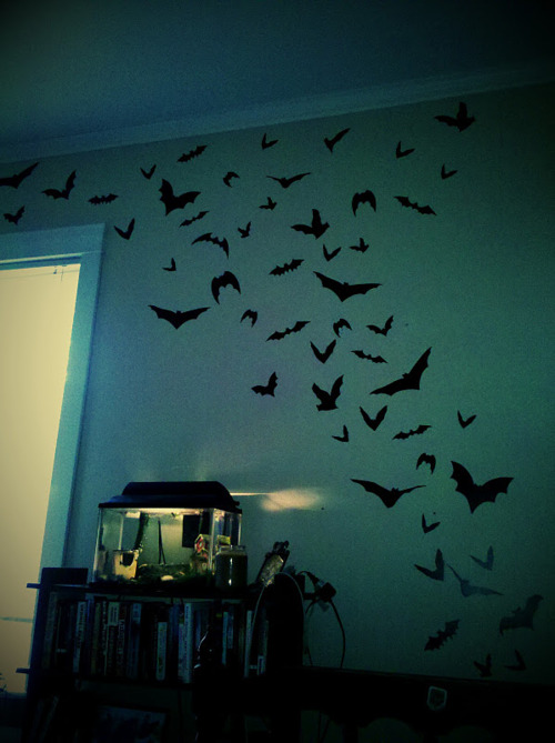 bat wall decor for kids room in halloween