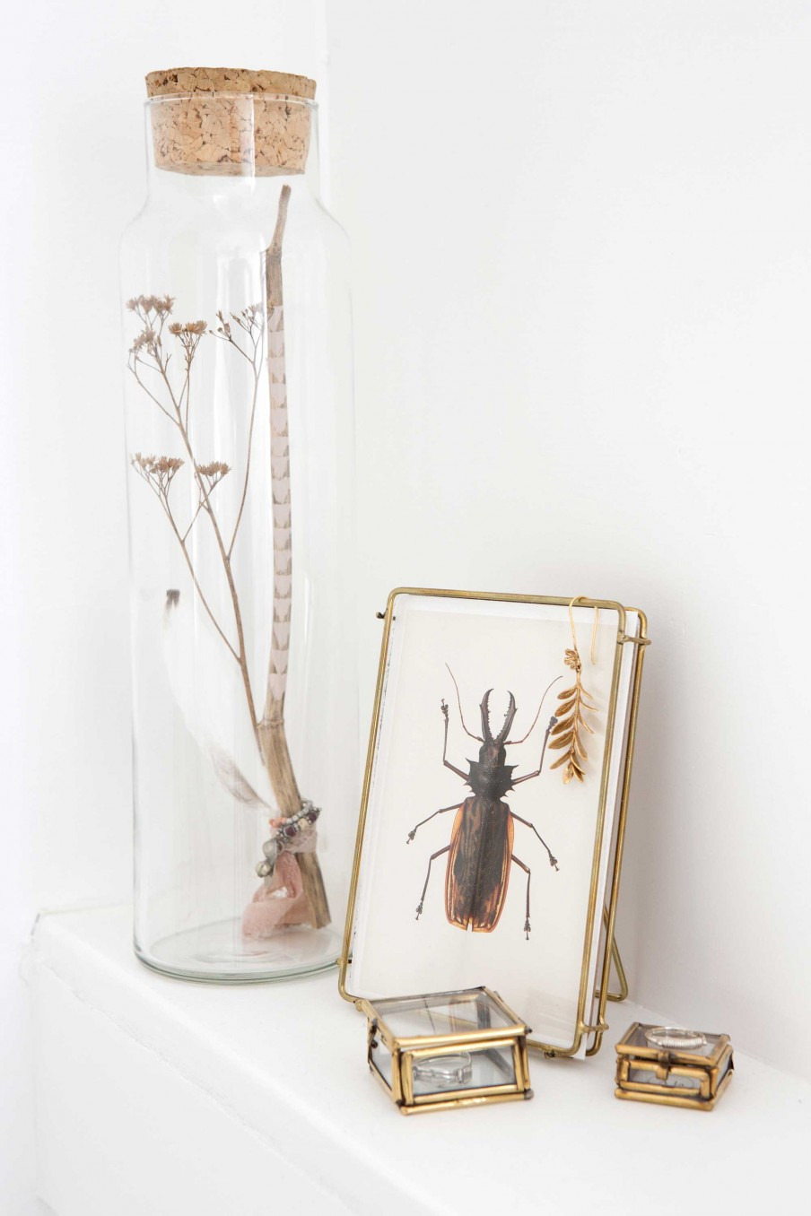 bottle and frame decoration