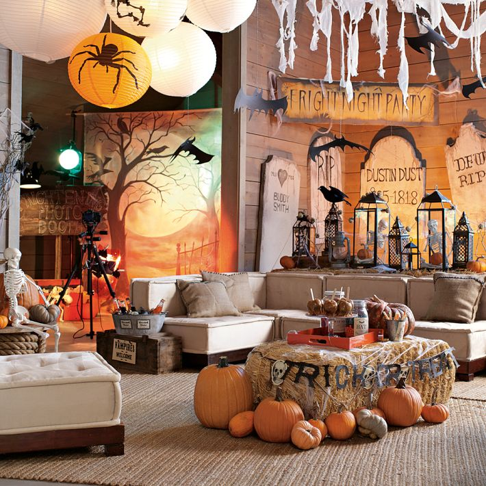 fantastic halloween decoration for living room - Halloween Room