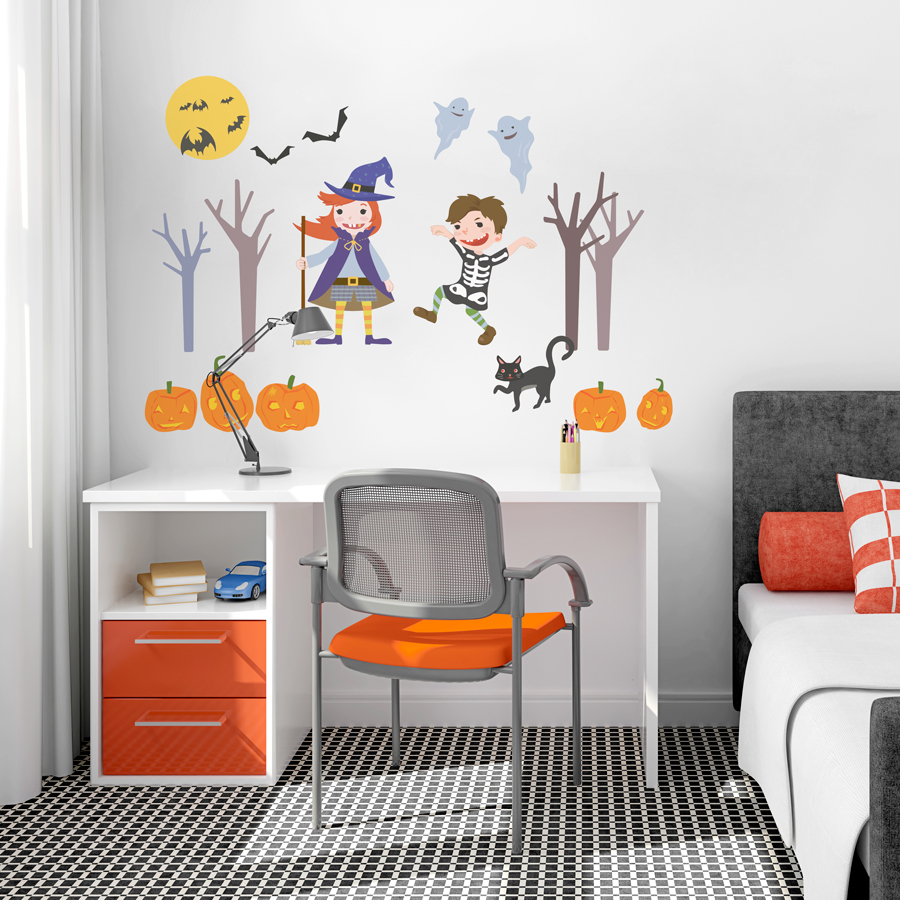 halloween wall decal for kids room - Halloween Room Ideas