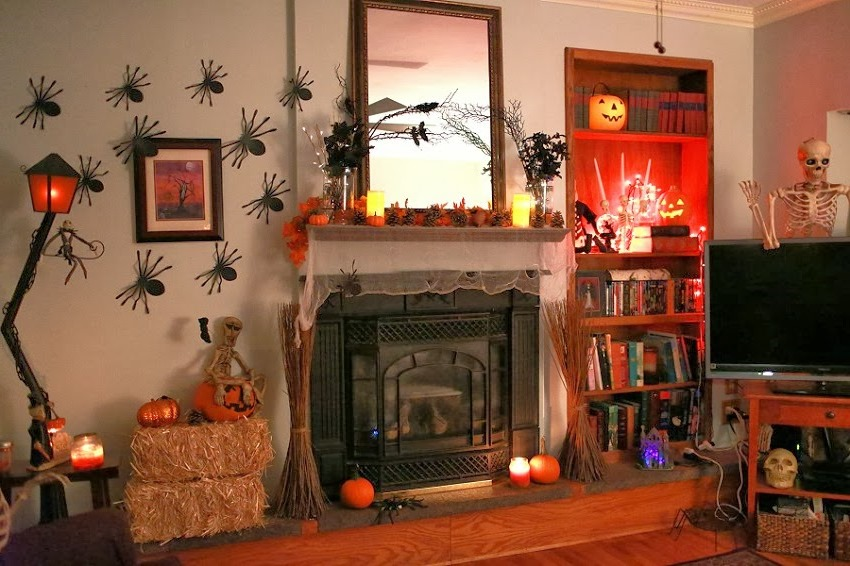 21 stylish living room halloween decorations ideas for Decoration halloween