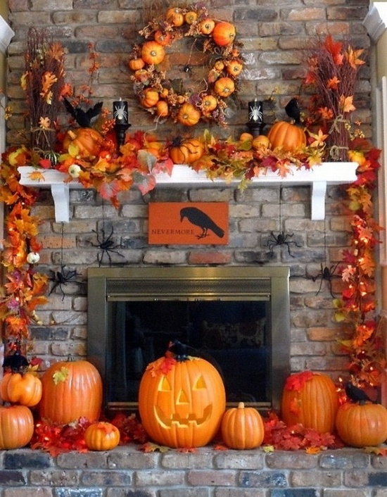 halloween decorations fireplace mantel - Decorate Halloween