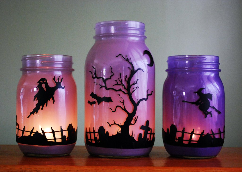 30+ Ideas For Halloween Decoration Mason Jars to Impress Everyone