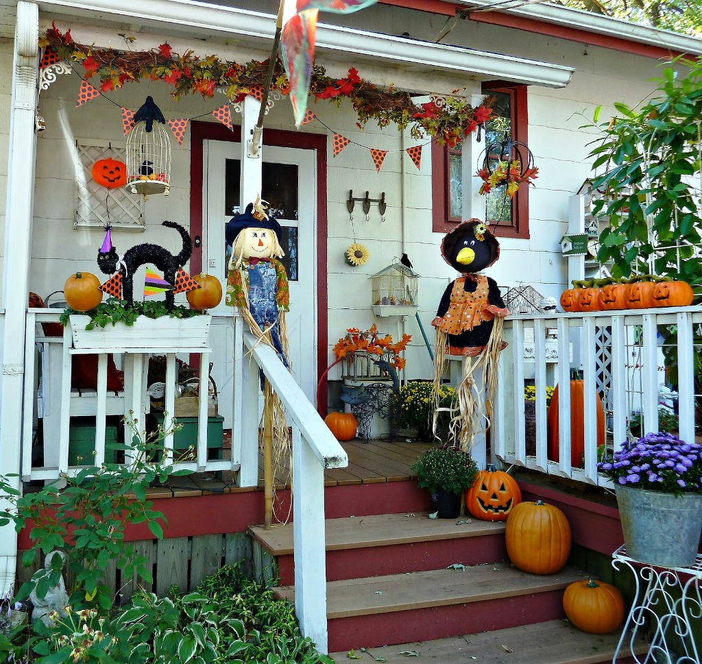halloween fall decorations bunting old glory cottage
