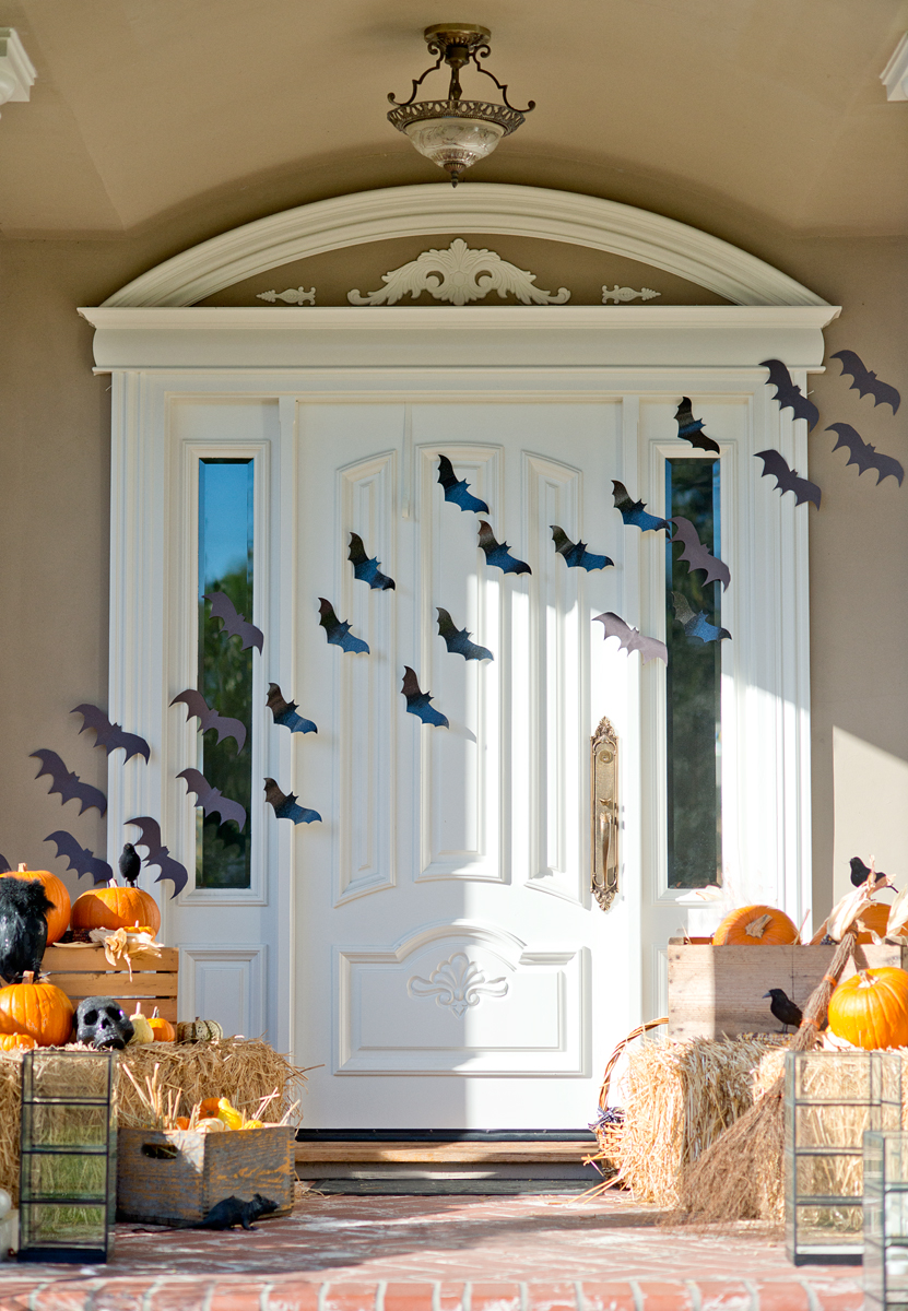 Halloween Front Porch bats decor