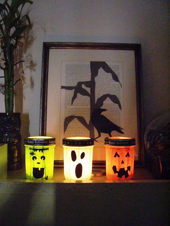 Halloween Mason Jars decor