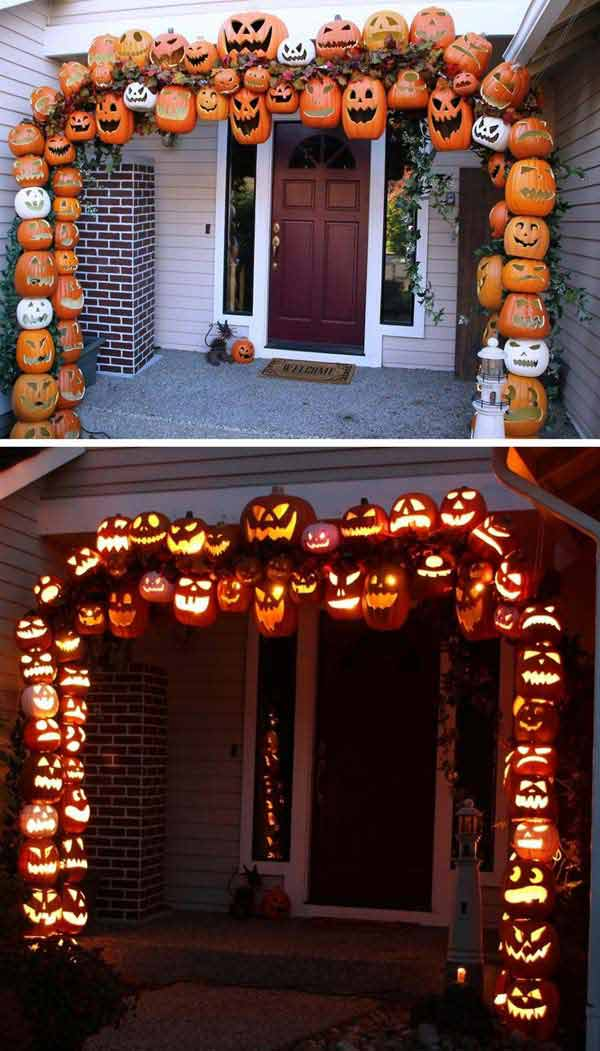 halloween pumpkin arch by crazi carlos - Cheap Halloween Decorating Ideas