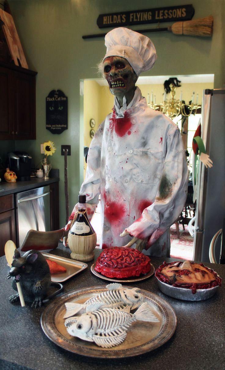 Hotel chef Halloween zombie