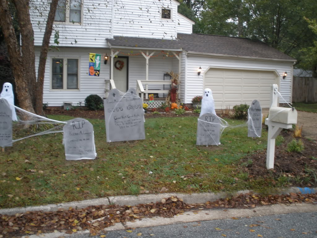 Homemade halloween decorations outside - Scary Outdoor Halloween Decoration