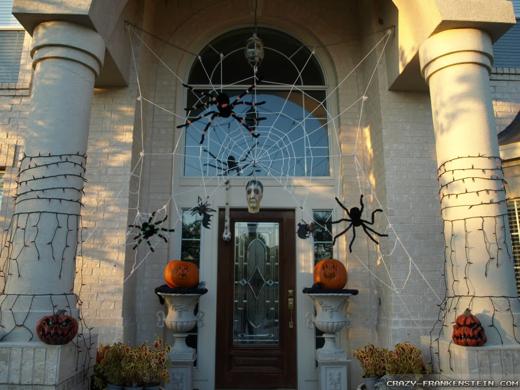 door halloween entrance decorations wallpapers