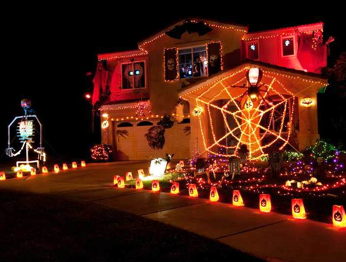 halloween lights house halloween decorations outdoor lights - Decorate House For Halloween