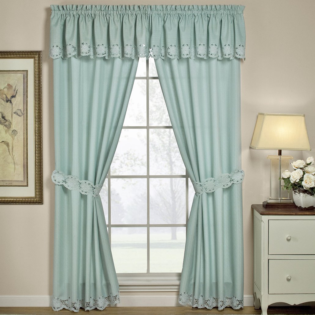 and com sahara curtain x home top kitchen dp l curtains w tie white sheer linen gauze amazon teal