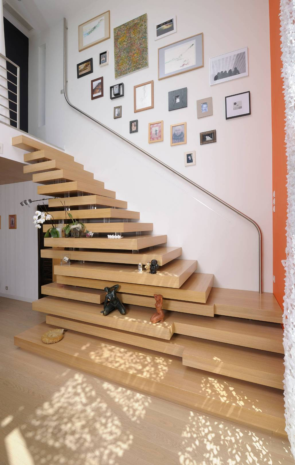 wooden staircase design modern house