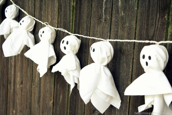 Ghost garlands Halloween Decorations DIY