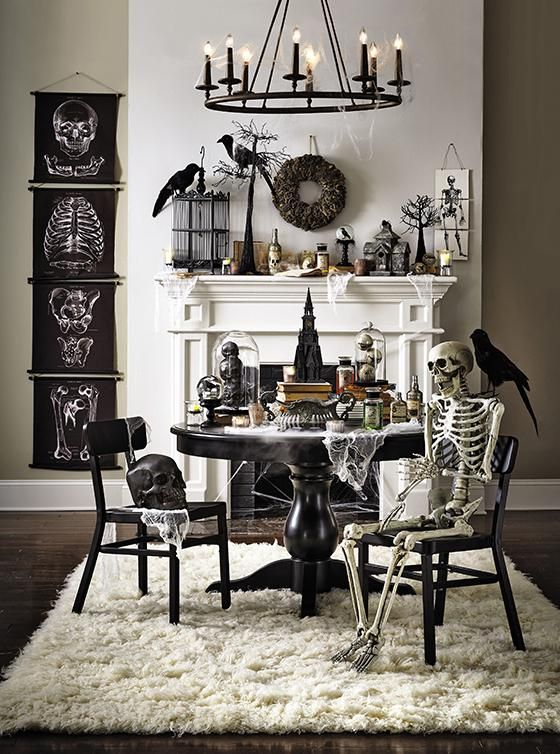 Indoor outdoor halloween skeleton decorations ideas for Decoration halloween