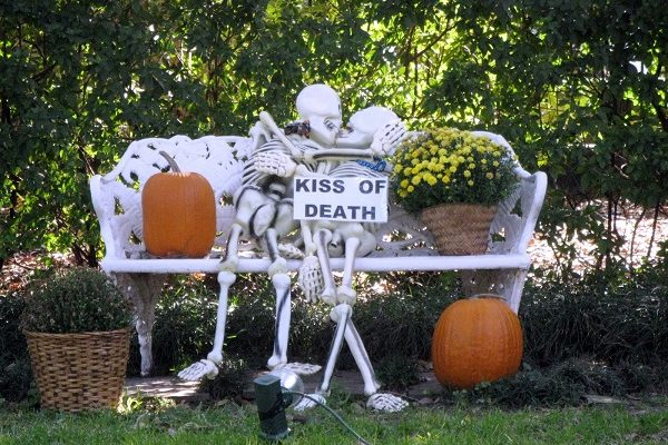 indoor outdoor halloween skeleton decorations ideas