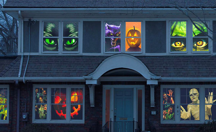 halloween window decorations Ideas