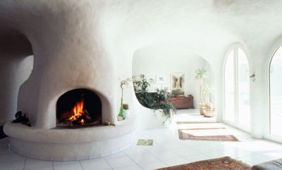 earth houses fireplace design