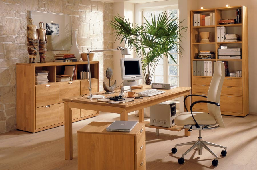 Charming Wood Office Furniture Set