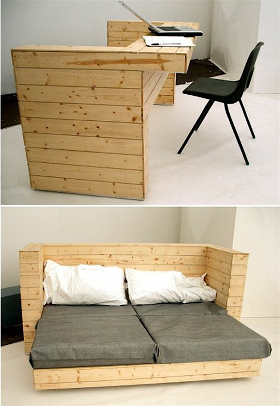 10 space saving furniture designs for small apartments for Small furniture design