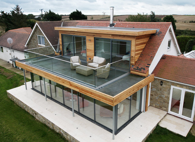But Many Contemporary Residential Homes Are Also Using Flat Roofs Rather Than Being Completely However The Often Have A Very Low Pitch