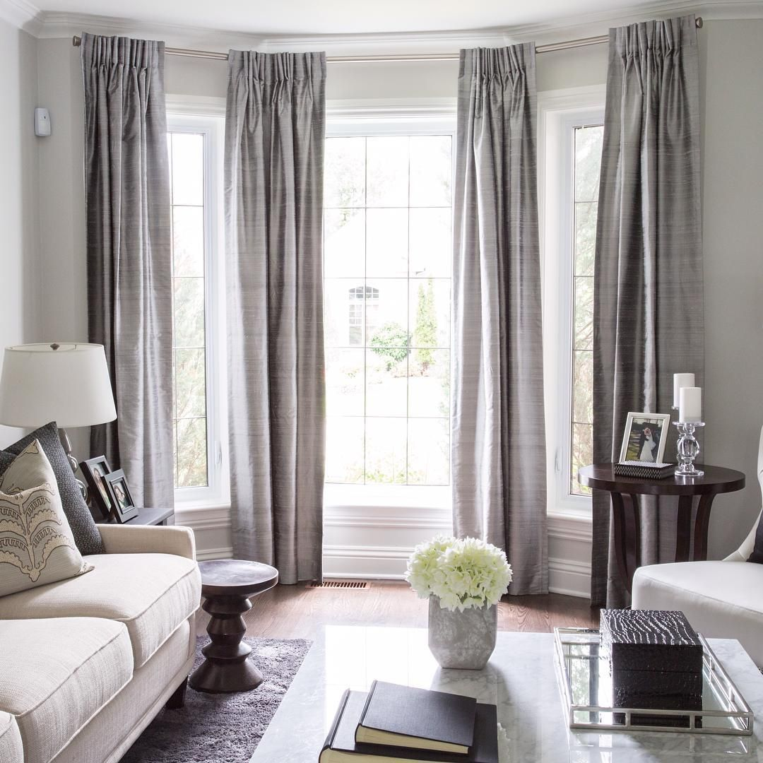 Window treatments in neutral and earthy colors