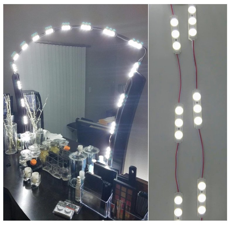 Mirrors and leds