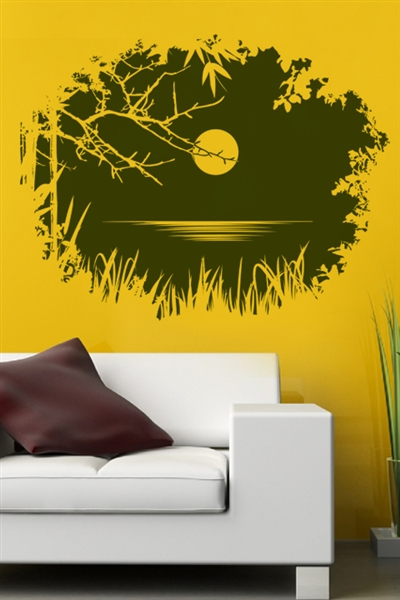 Entry Through Branches Wall Decal Ideas