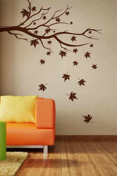Falling Leaves natural wall art design ideas