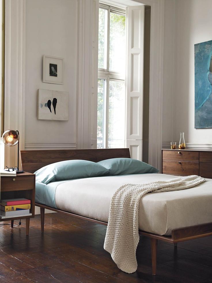 Minimal style wood bedframe