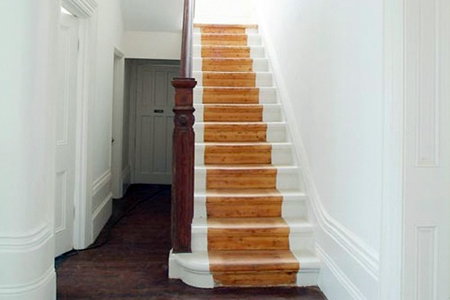 White and Wood Stairs decals