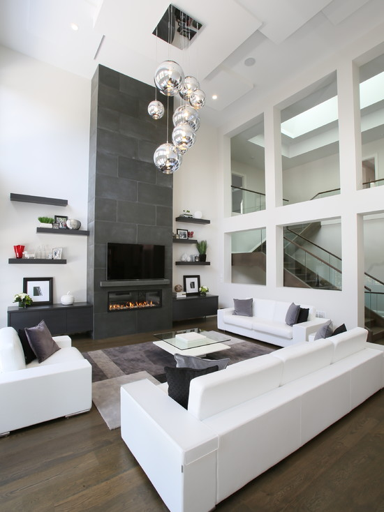 Living Room White Sofa